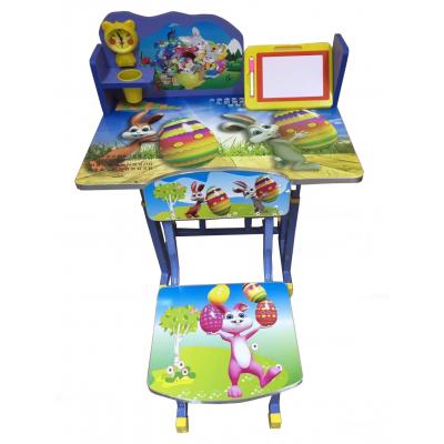โต๊ะเขียนหนังสือเด็กลายการ์ตูนกระต่าย