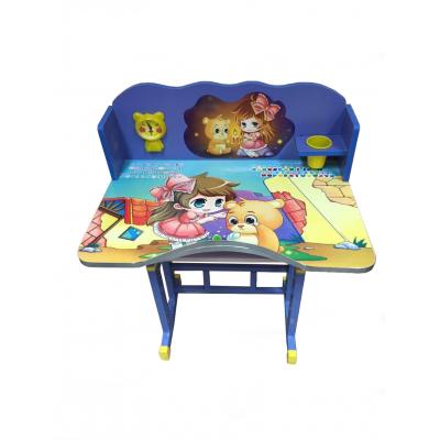 โต๊ะเขียนหนังสือเด็กลายการ์ตูนหมีน้อย